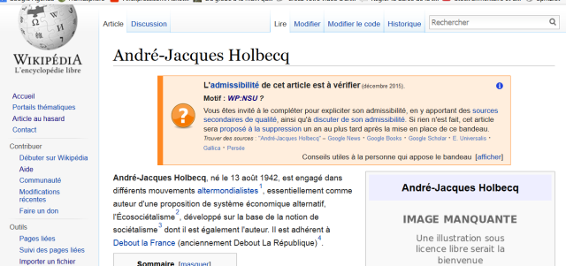 holbecq sur Wikipedia